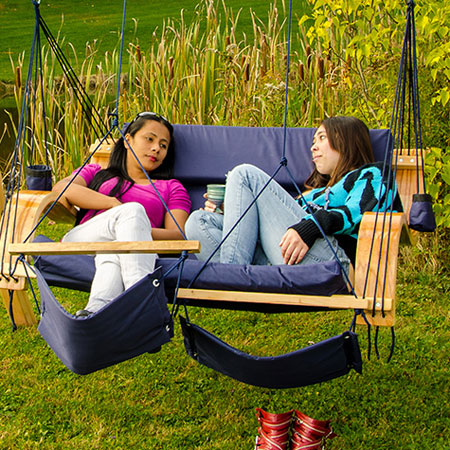 Wood Love Seat Lounger